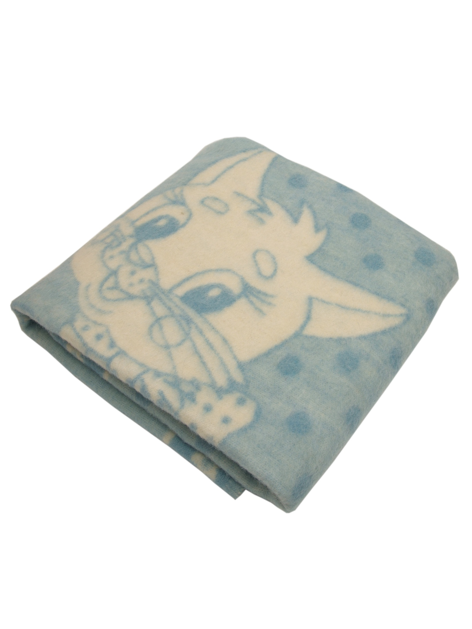 """Одеяло детское """"Котёнок"""" Arloni, 27360.К.Г, голубой, 100х140 см"""