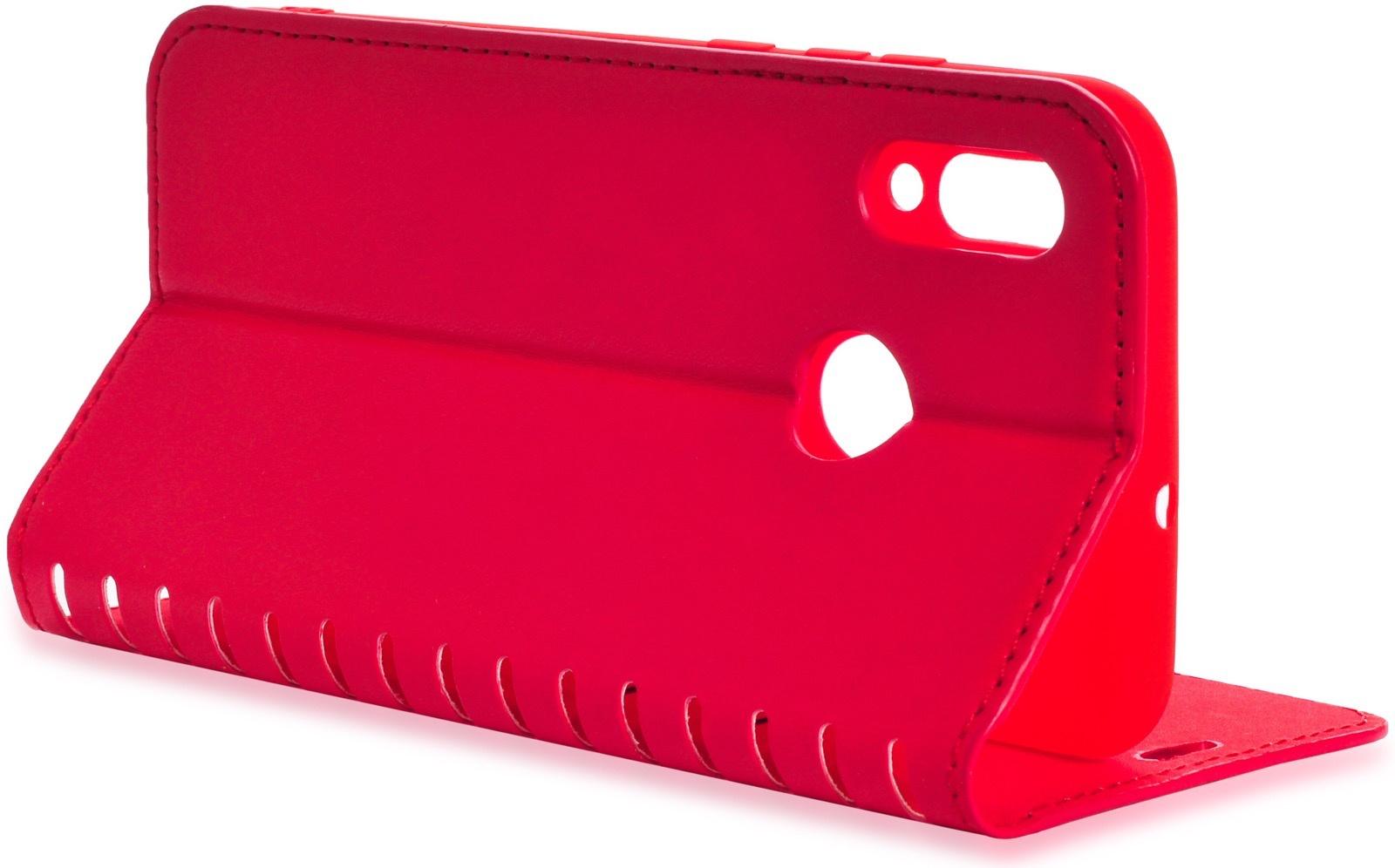 Чехол книжка Gurdini Premium case с силиконом на магните 908593 для Huawei P Smart 2019/ Honor 10 Lite ,908593,красный