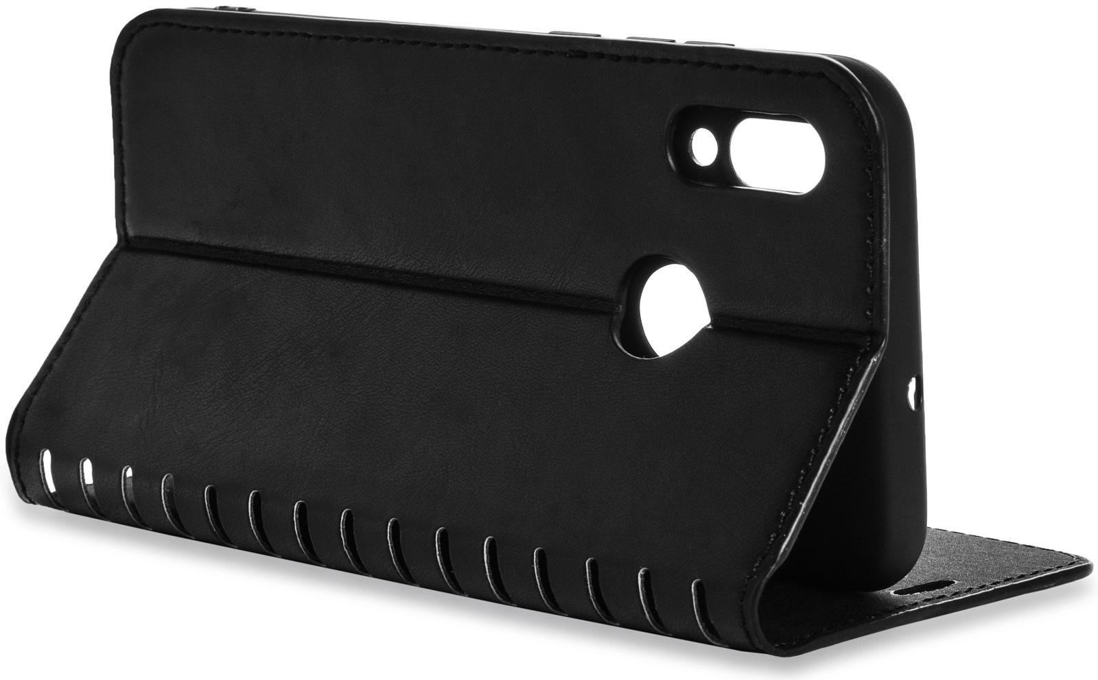 Чехол книжка Gurdini Premium case с силиконом на магните 908591 для Huawei P Smart 2019/ Honor 10 Lite ,908591,черный