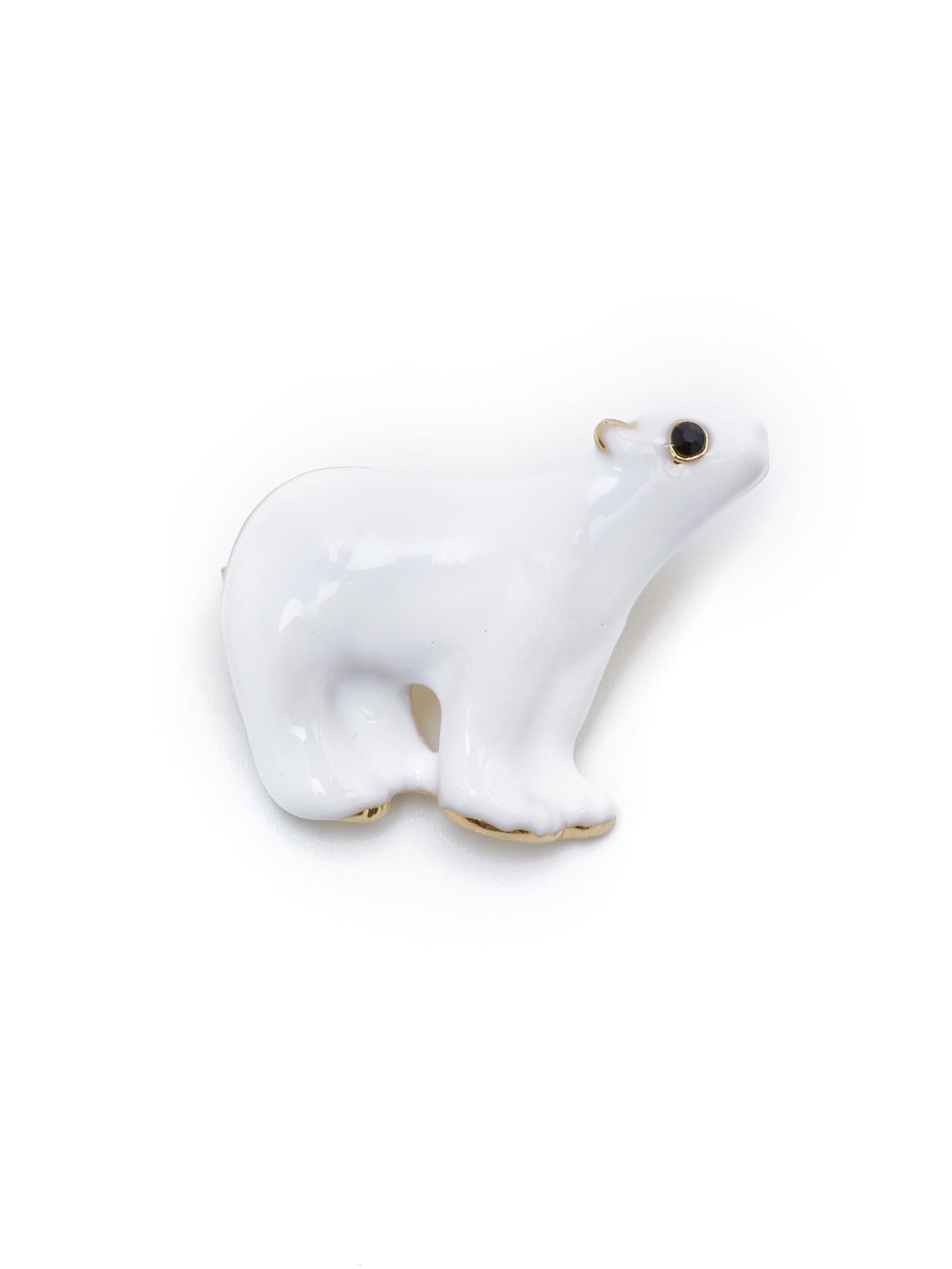 Брошь бижутерная ЖемАрт брошь медведь