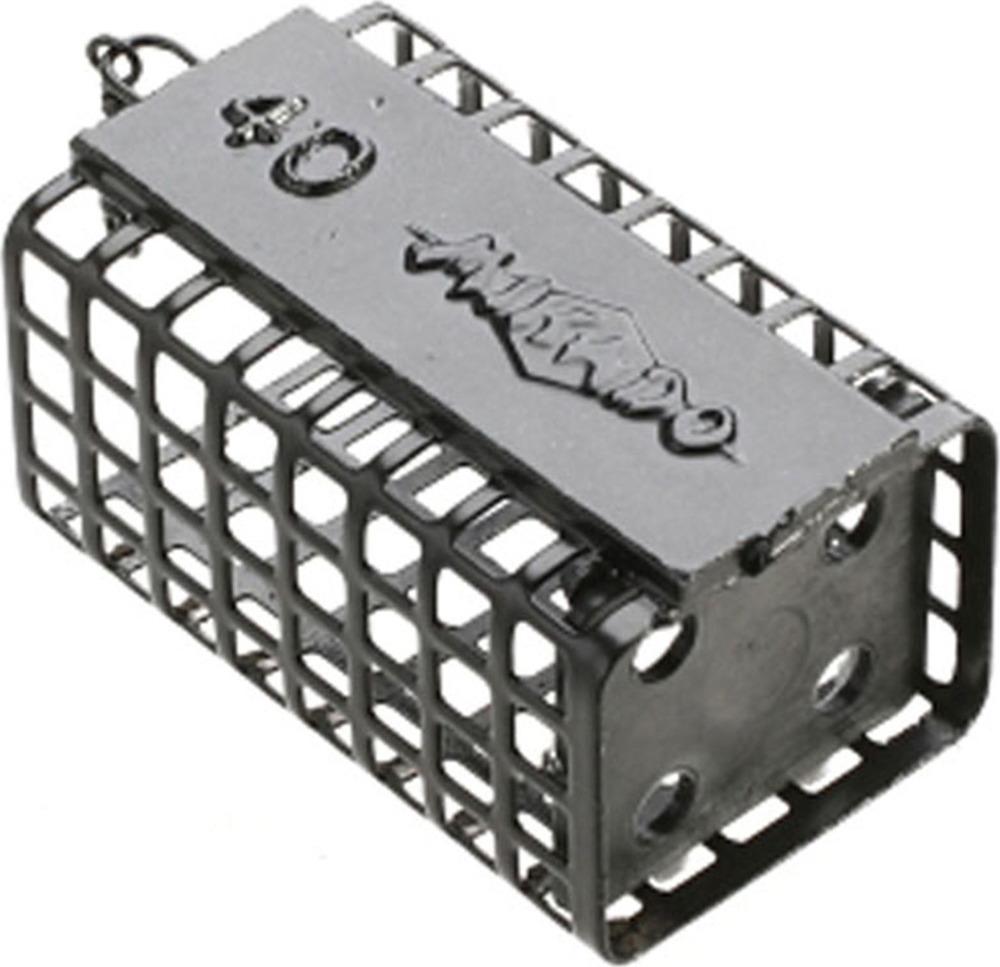 Кормушка для рыбы Mikado, квадратная, с дном, idab_dru_40-000-00, черный, 5 г, 10 шт
