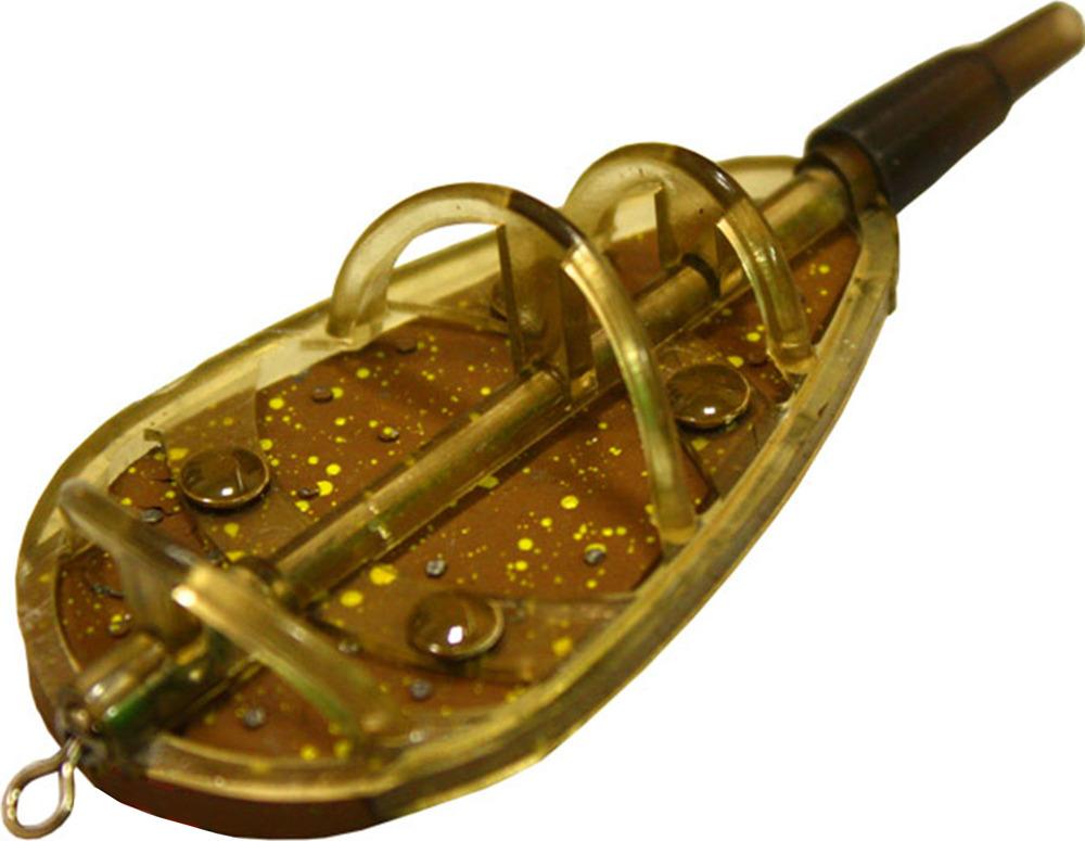 Кормушка для рыбы Mikado Method Feeder, методная, amf01_1l_80-000-00, коричневый, 80 г