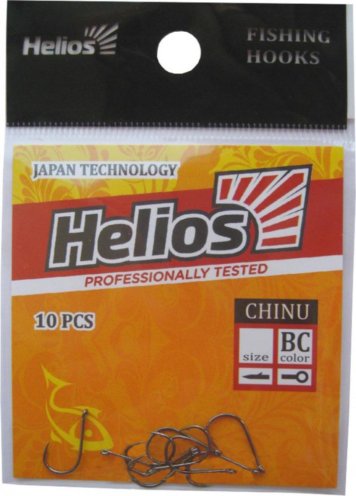 Крючок Helios Chinu, с кольцом №6, hs_ch_6-904-00, черный, 10 шт