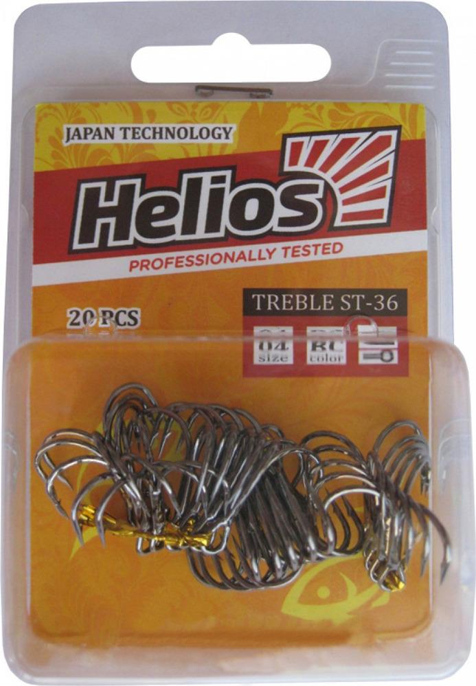 Крючок Helios ST-45, тройной №5, hs_st_36_5-904-00, черный, 20 шт