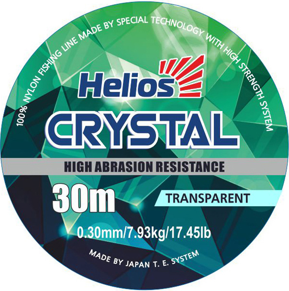 Леска Helios Crystal Nylon Transparent, 0,30 мм/30, hs_ct_0_30_30-000-30, прозрачный