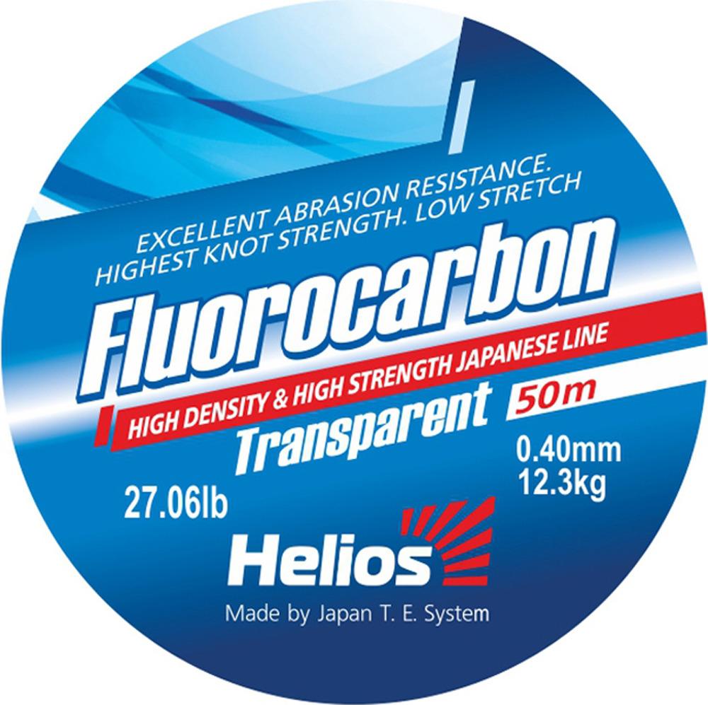 Леска Helios Fluorocarbon Transparent, 0,40 мм/30, hs_fct_40_30-000-30, прозрачный леска aqua fc ultra fluorocarbon 100