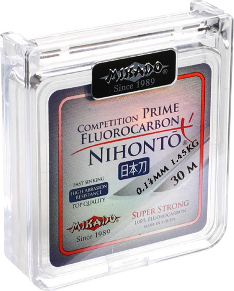 Леска-мононить Mikado Nihonto Fluorocarbon Prime, 0,14/ 1,45 кг, zflp3_014-000-30, прозрачный, 30 м Mikado