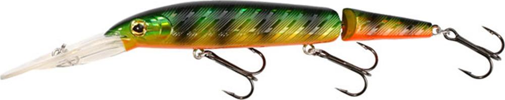 Воблер Mikado Flare, плавающий, pwf_fr_14f-723-00, зеленый, черный, красный, 14 см