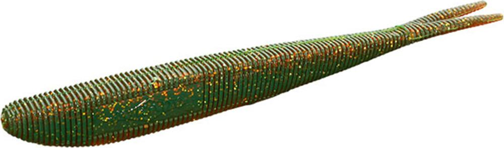 Приманка Mikado Червь силиконовый Saira, съедобная резина, pmsa_7-585-00, зеленый, золотой, 7 см, 5 шт