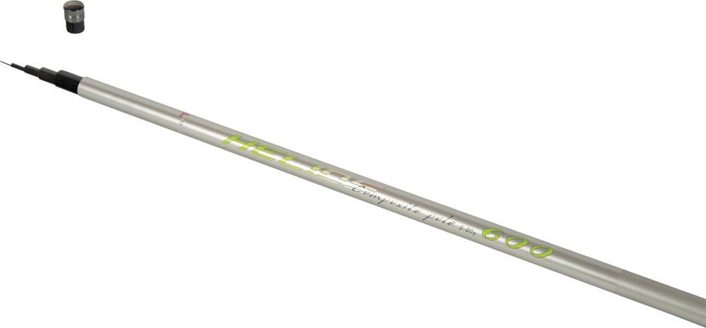 Удилище Helios Composite Pole, маховое, hs_cp_600-157-600, серебристый, 6 м