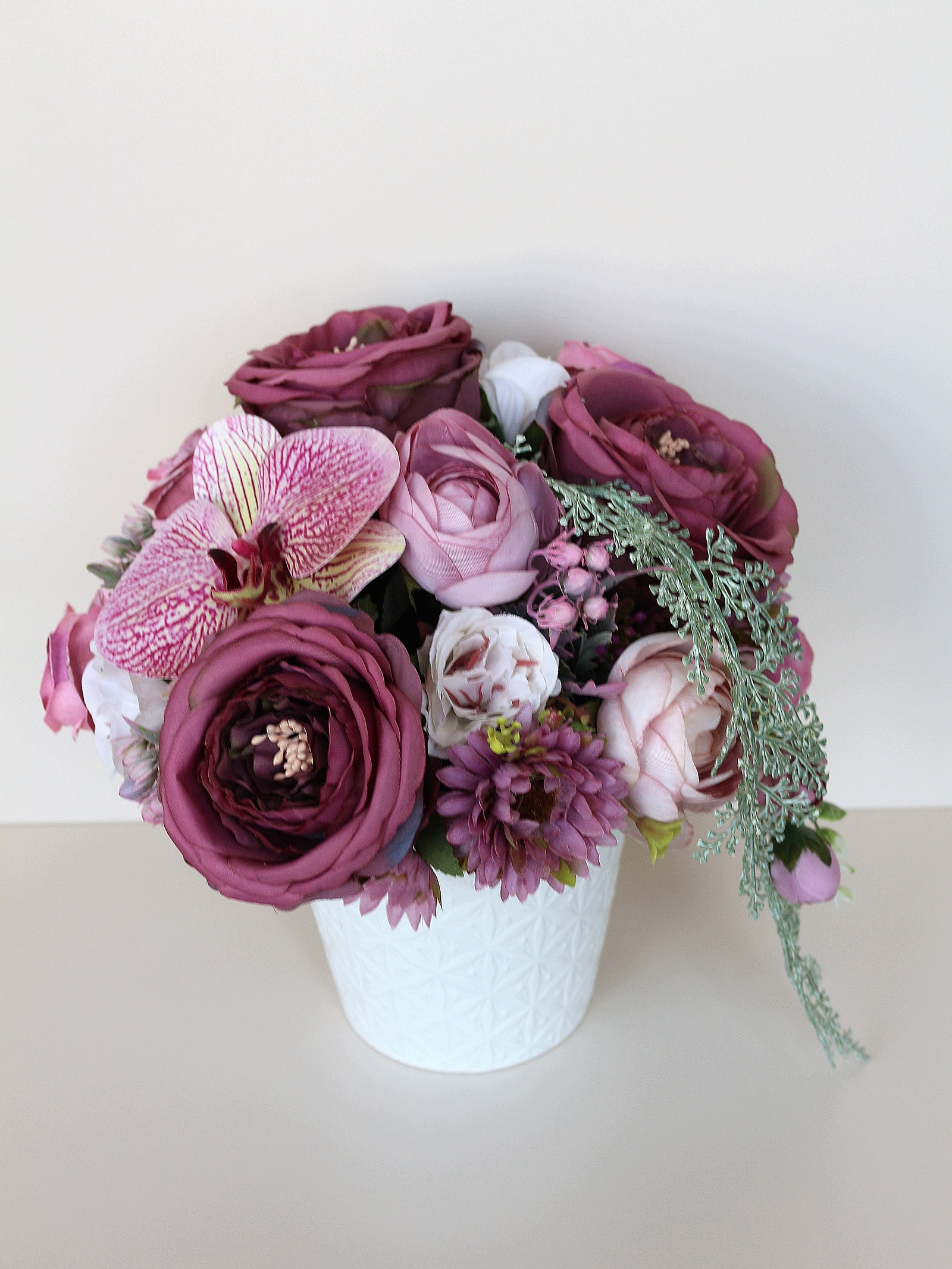 Искусственные цветы 403398, розовый emo 02 композиция из натуральных орхидей