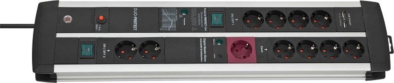 1392000220 Brennenstuhl сетевой фильтр Premium-Protect-Line 120.000 А, 3 м., черный