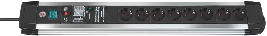 1391000608 Brennenstuhl сетевой фильтр Premium-Protect-Line 60.000 А, 3 м., черный,8 розеток