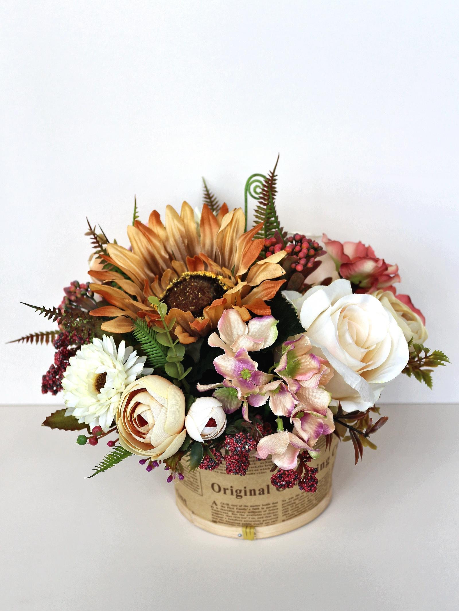 Искусственные цветы 403401, бежевый стельки из бересты польза