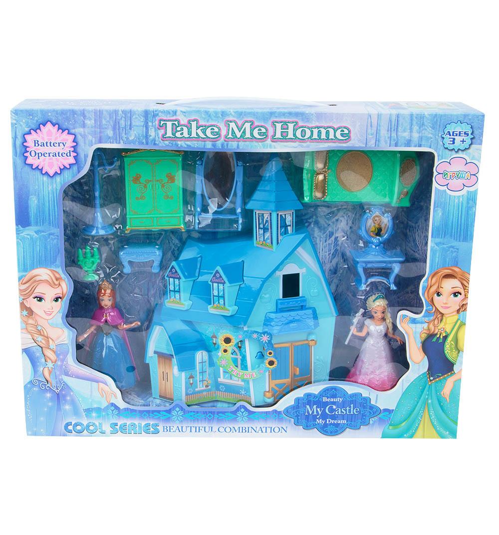 Дом для кукол Игруша Замок принцессы, ES-SG-29007 kid hop замок для принцессы winx розовая
