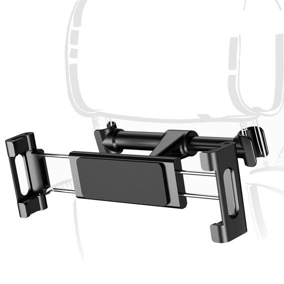 Автомобильный держатель для мобильных устройств на подголовник Baseus Back Seat - Черный (SUHZ-01) автомобильный держатель baseus carwirbassens черный