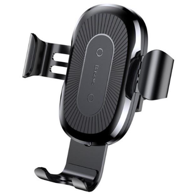 Автомобильный держатель для телефона в дефлектор с беспроводной быстрой зарядкой Baseus Gravity - Черный (WXYL-01) автомобильный держатель baseus wxyl 01 черный