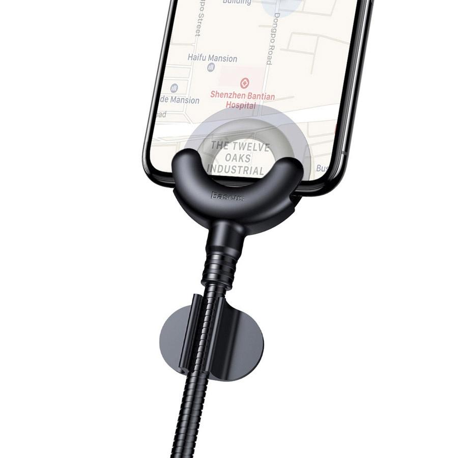 лучшая цена Автомобильный держатель для iPhone на торпеду Baseus O-Type - Черный (CALOX-01)