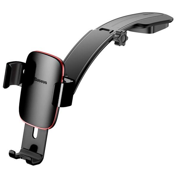 Автомобильный держатель для телефона на торпеду Baseus Metal Age Gravity - Черный (SUYL-F01) автомобильный держатель baseus mini gravity holder suyl g09 красный