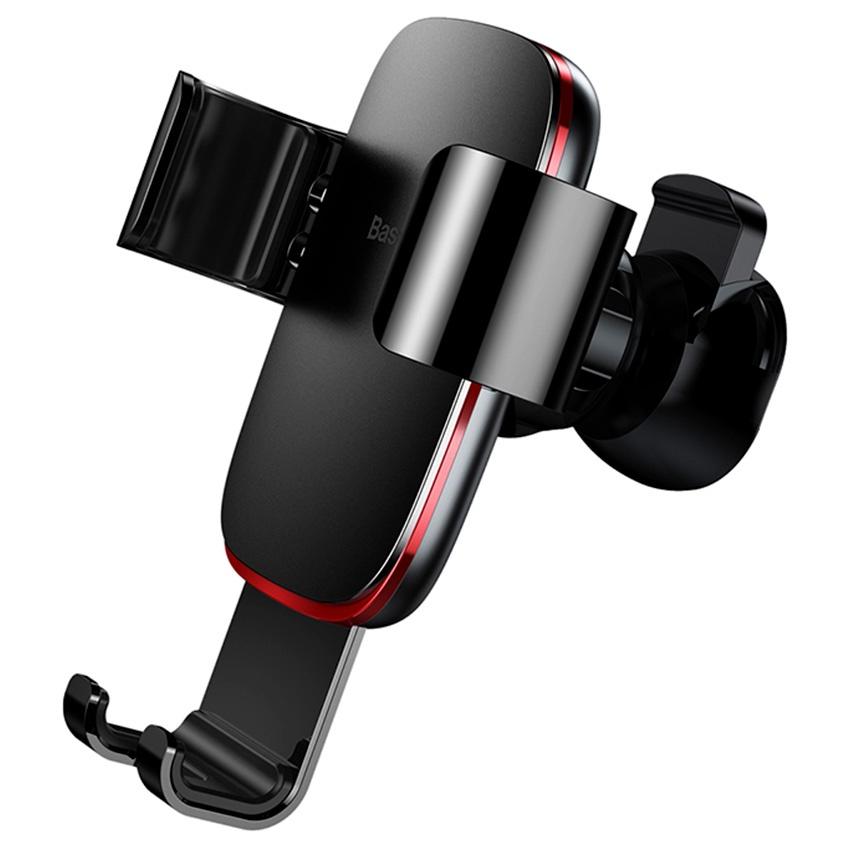 Автомобильный держатель для телефона в дефлектор Baseus Metal Age Gravity - Черный (SUYL-D01) автомобильный держатель baseus carwirbassens черный