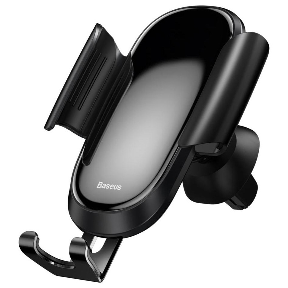 Автомобильный держатель для телефона в дефлектор Baseus Future Gravity - Черный (SUYL-WL01) автомобильный держатель baseus carwirbassens черный