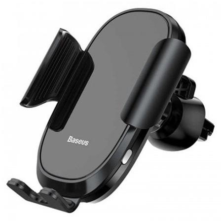 Автомобильный держатель для телефона в дефлектор Baseus Smart Car Mount Cell - Черный (SUGENT-ZN01) автомобильный держатель baseus carwirbassens черный
