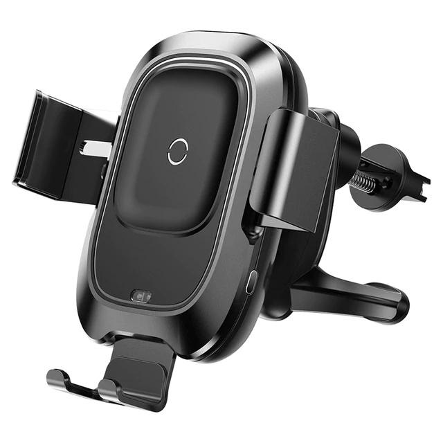 Автомобильный держатель для телефона в дефлектор с беспроводной быстрой зарядкой Baseus Smart Vehicle Bracket - Черный (WXZN-01)