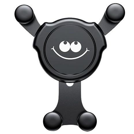 Автомобильный держатель для телефона в дефлектор Baseus Emoticon Gravity Car Mount - Funny (SUYL-EMHJ)