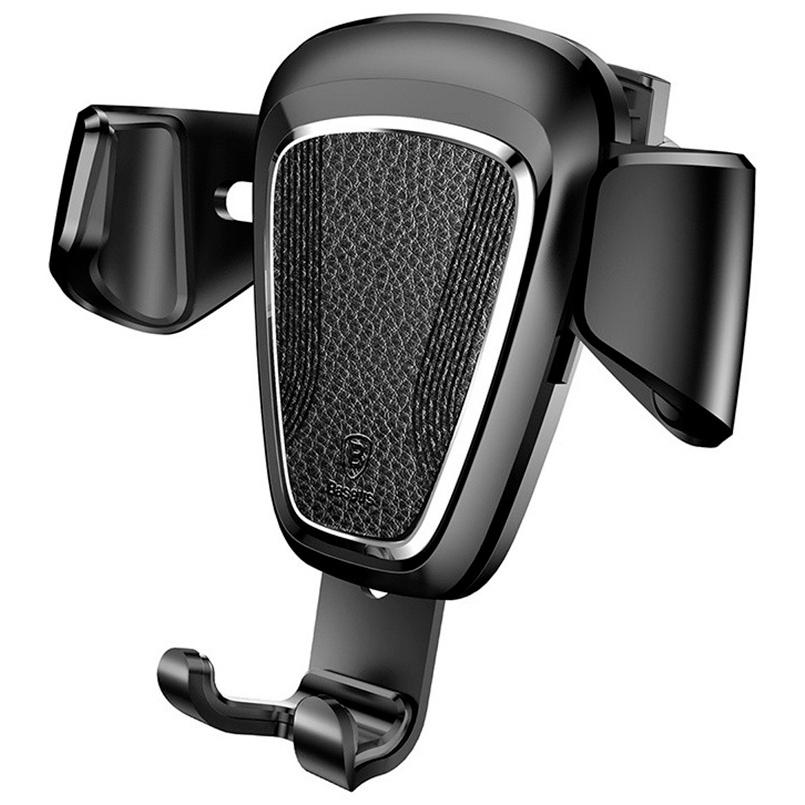 Автомобильный держатель для телефона в дефлектор Baseus Gravity - Черный (SUYL-B01) автомобильный держатель baseus carwirbassens черный