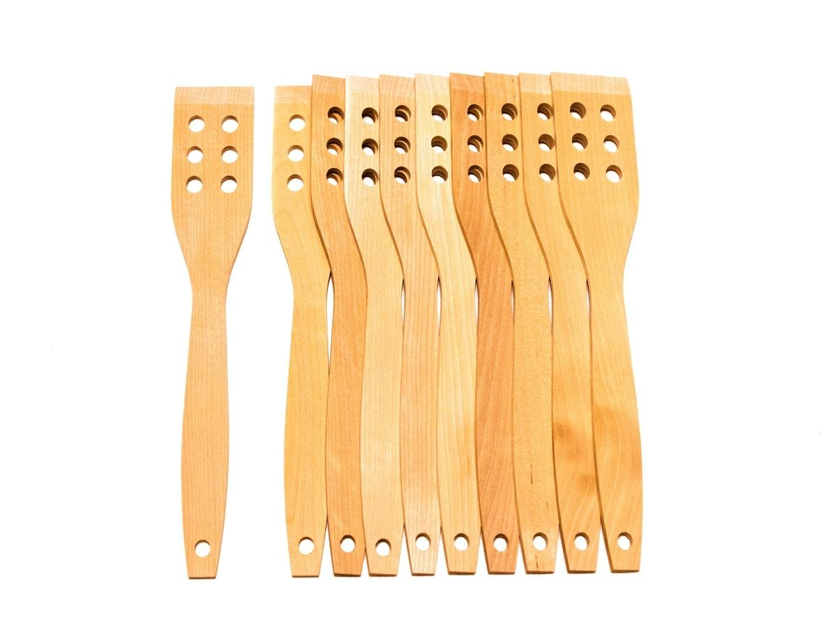 купить Лопатка деревянная-10 шт.(245х45х4мм) по цене 250 рублей