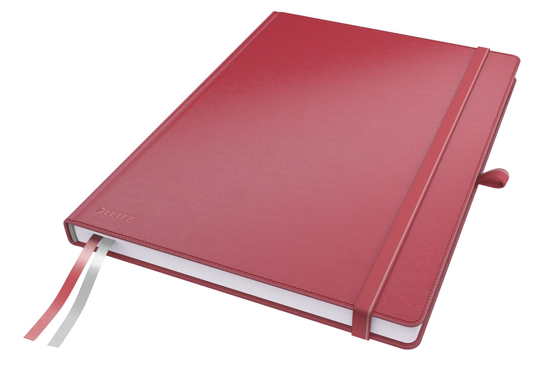 Записная книжка Leitz Записная книга Complete, А4, клетка, красный, 80 листов