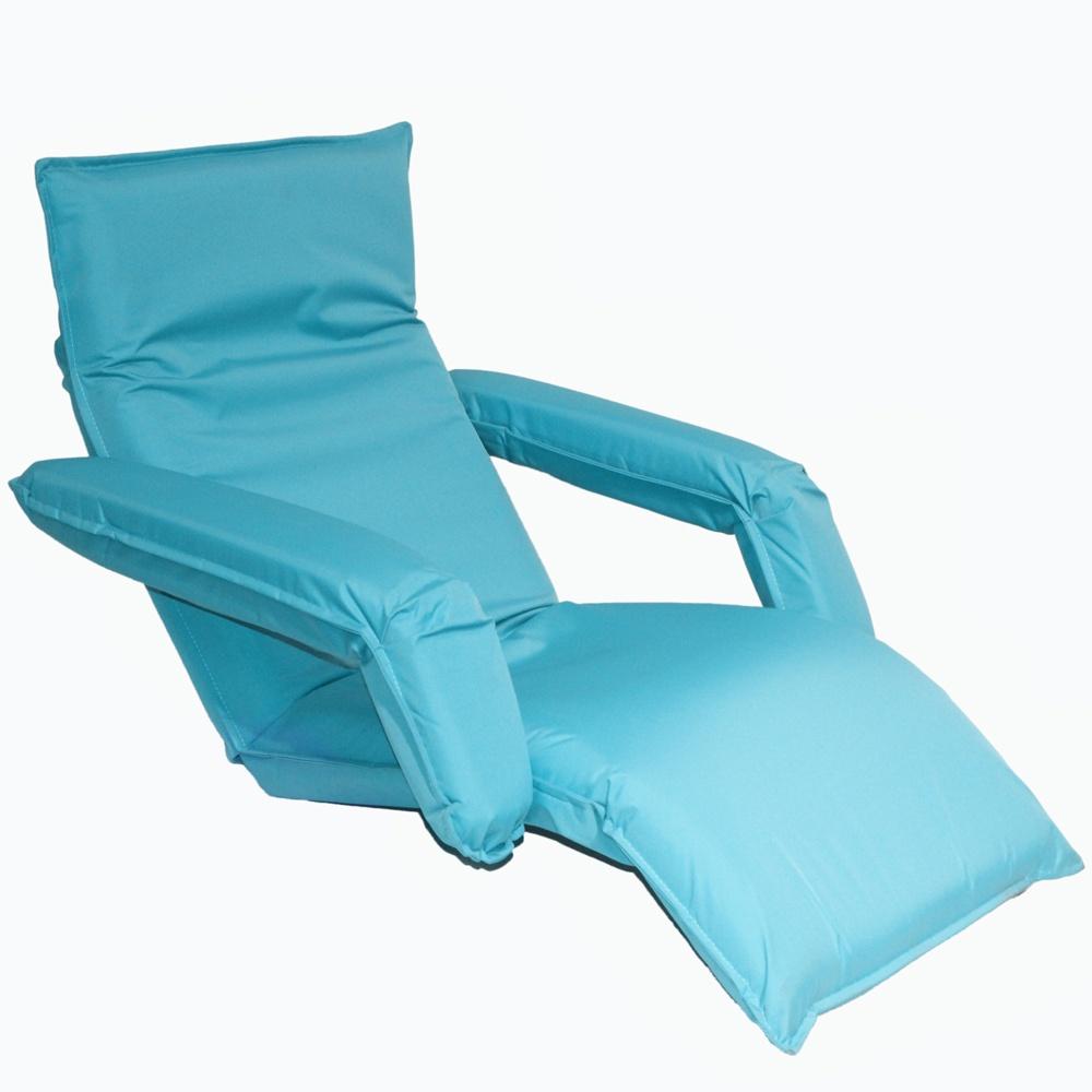 Кресло-шезлонг MERLIN LF10, голубой шезлонг пластиковый 186х76х88см темно зеленый складной на колесах