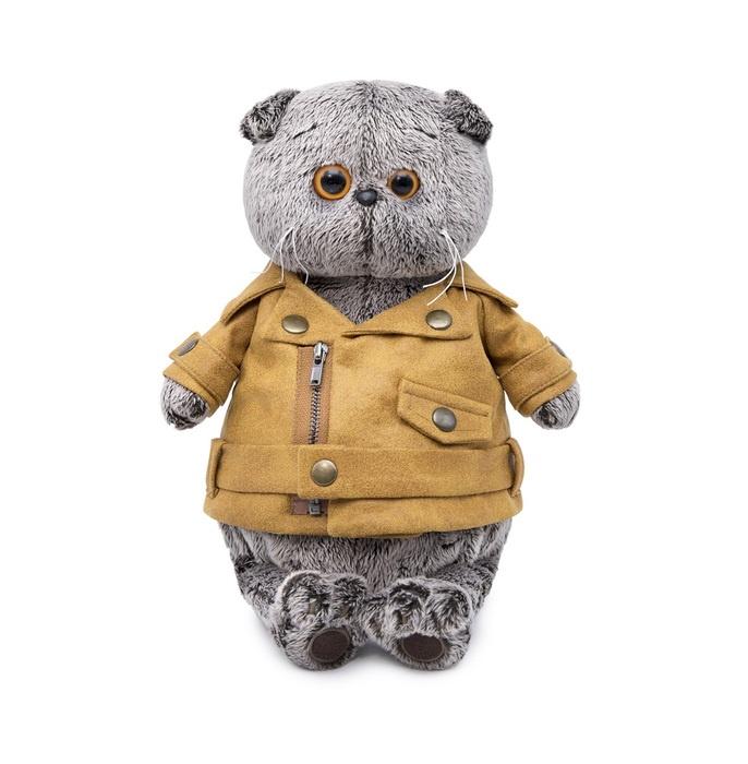 Мягкая игрушка Budi Basa Кот Басик в куртке косухе, 19 см