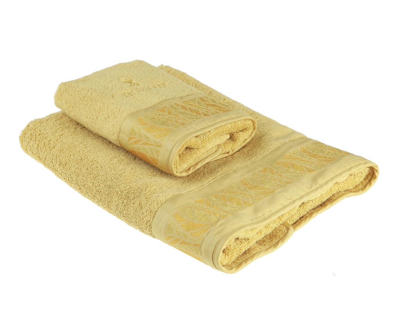 цена Набор банных полотенец Trussardi Leafy, бежевый онлайн в 2017 году