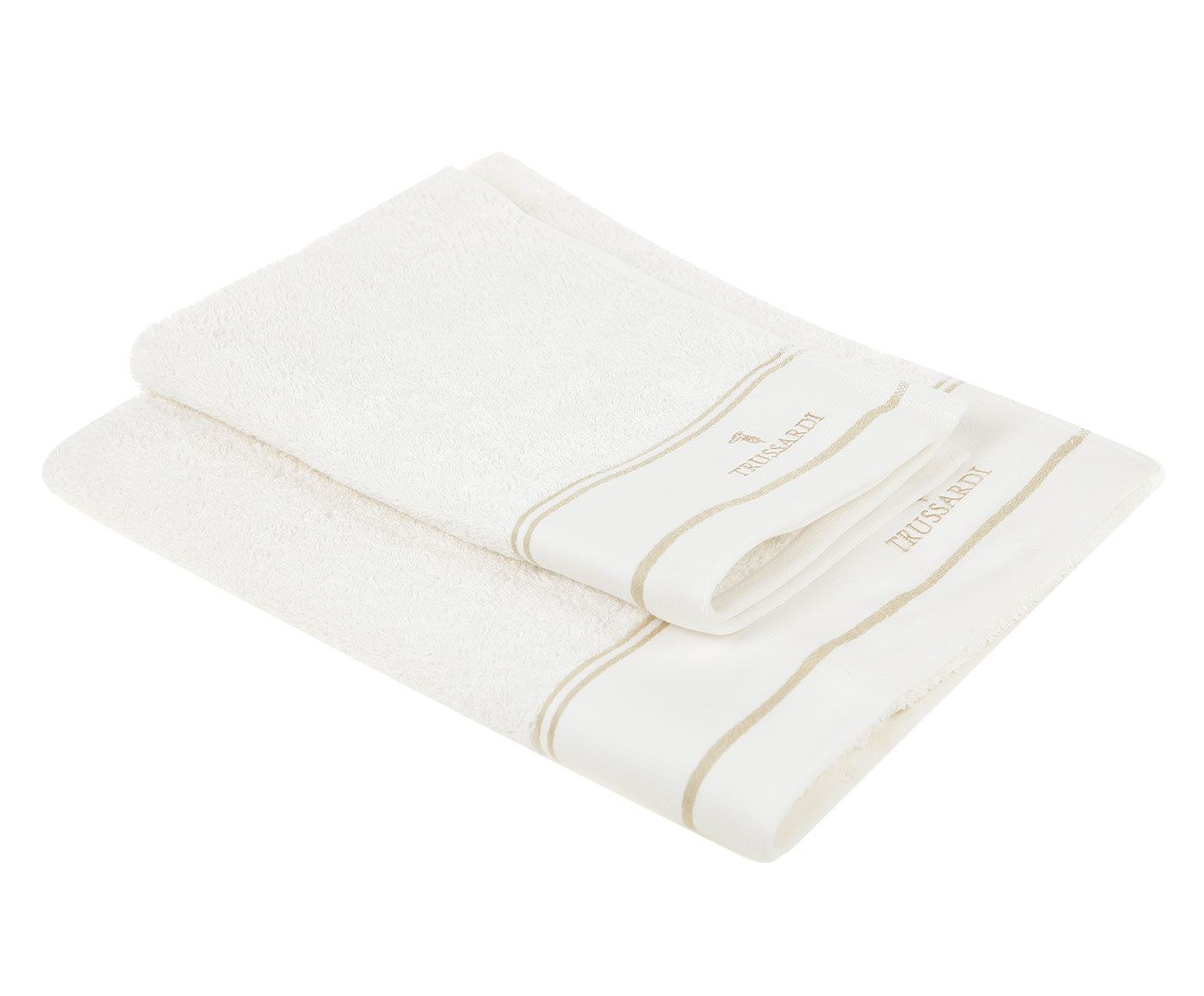 цена Набор банных полотенец Trussardi Look, белый онлайн в 2017 году