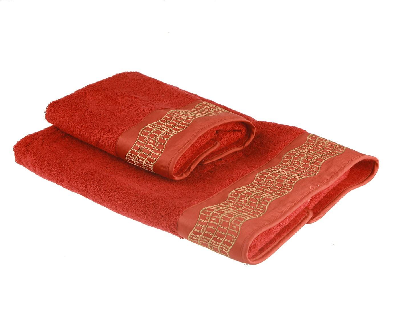 цена Набор банных полотенец Trussardi Lord, красный онлайн в 2017 году