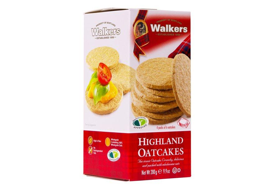 Шотландское сухое овсяное печенье Walkers Highland Oatcakes нетто 280г марьяна скуратовская сокровища британской монархии скипетры мечи и перстни в жизни английского двора