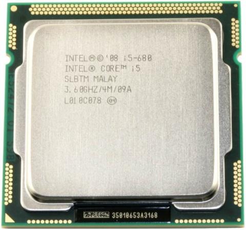 Процессор Intel Core i5-680 (4M Cache, 3.60 GHz) shipping original intel core i5 760 slbrp processor 2 8 ghz 8mb cache socket lga1156 45nm desktop cpu i5 760