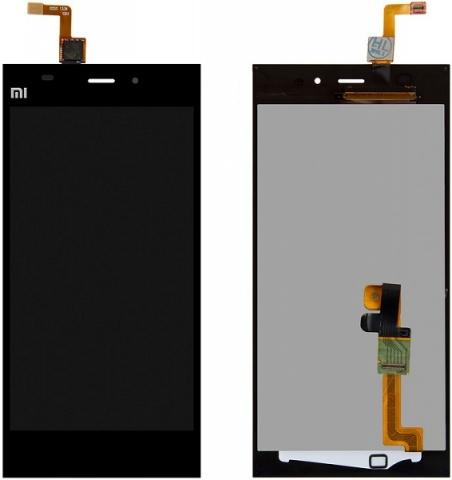 Дисплей для телефонов Дисплей для Xiaomi Mi3 + тачскрин в сборе (чёрный) - оригинал