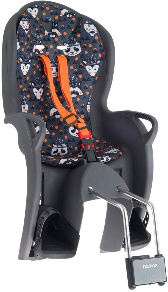 Велокресло детское Hamax Kiss, серый, оранжевый
