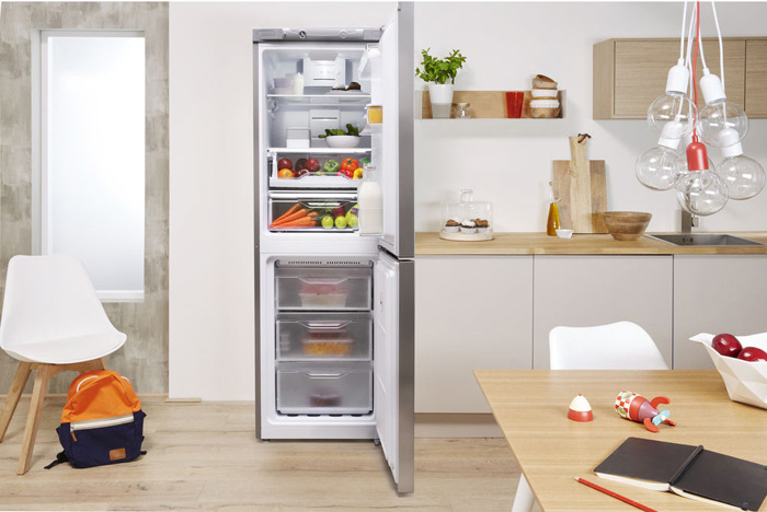 Холодильник Indesit DFE 4160 S, двухкамерный, серебристый Indesit