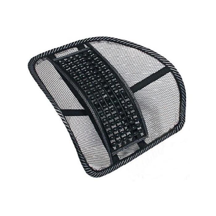 Подушка на сиденье Nova Bright поддержка поясничная, с массажером из деревянных шариков, размер 42х40см, черный накидка на сиденье nova bright 120х43см