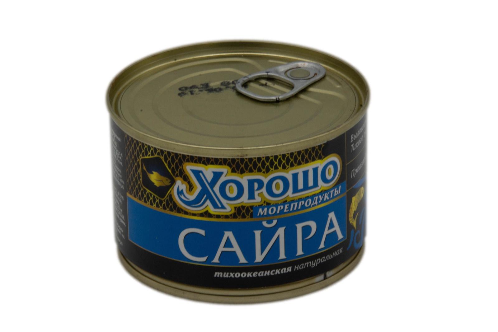 Сайра натуральная Хорошо 250 ключ Выловлено в Акватории Тихого океана.. Произведено в России. В составе...