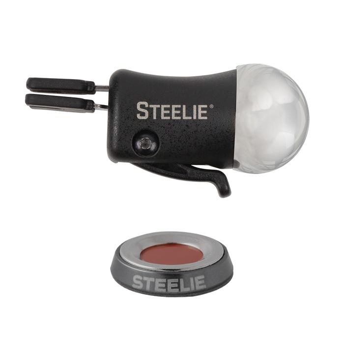 Держатель для телефона NiteIze Магнитный Nite Ize Steelie Vent Mount Kit, черный универсальный автомобильный держатель nite ize steelie vent mount kit
