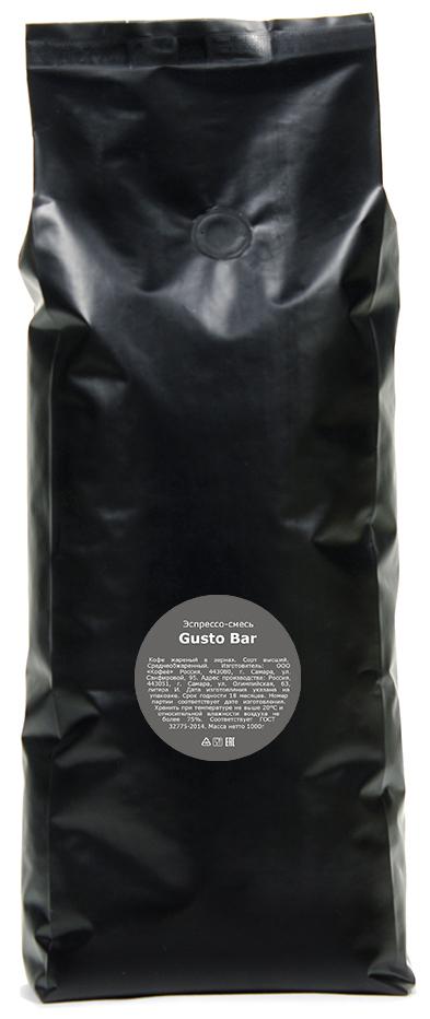 Кофе в зернах Lemur Coffee Roasters Эспрессо-смесь Gusto Bar, 1 кг