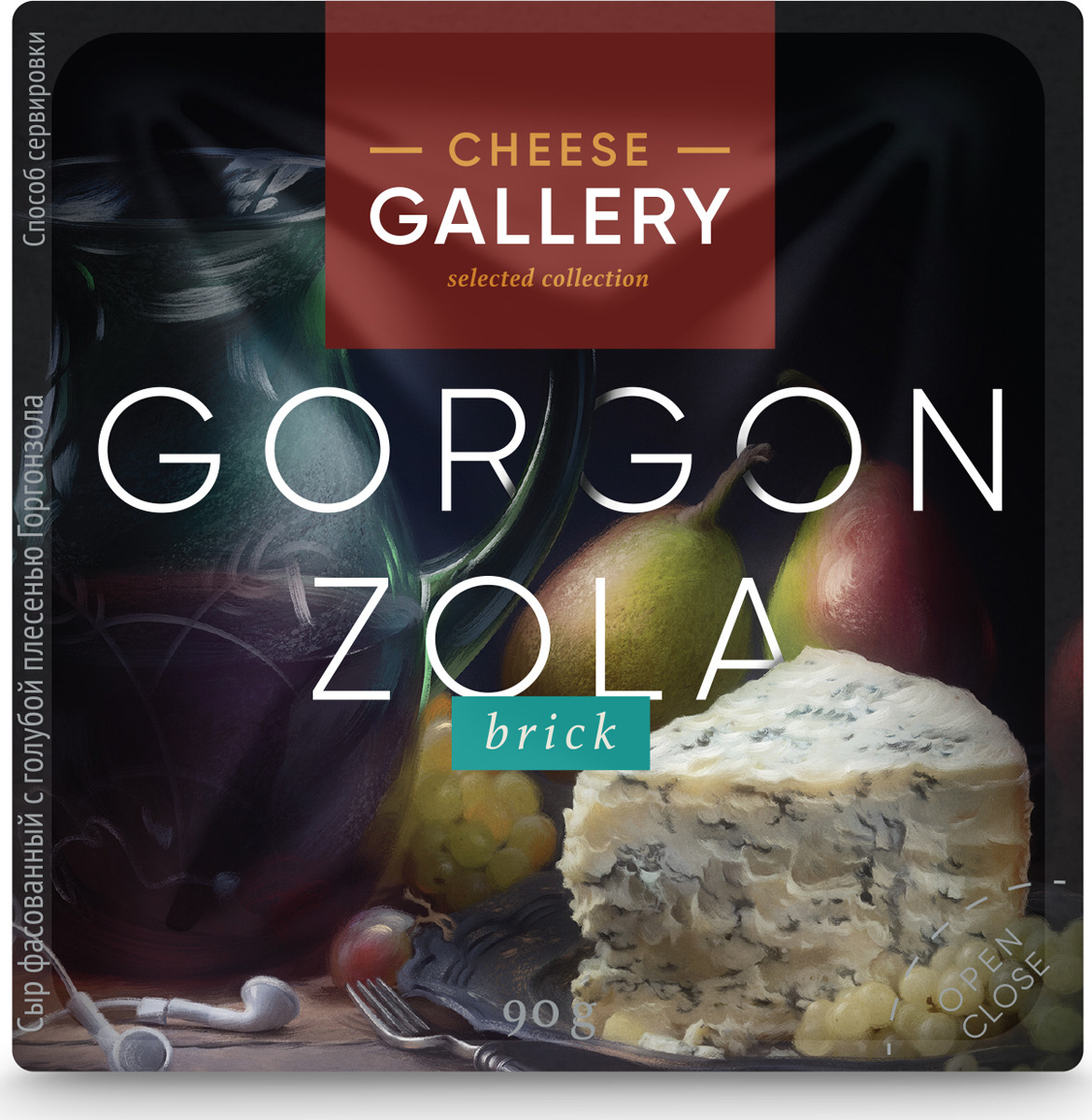 Cheese Gallery Сыр Горгонзола, 60%, c голубой плесенью, 90 г cheese rolling races