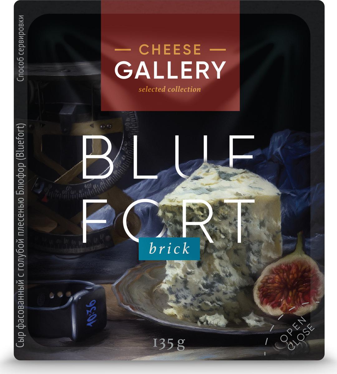 Cheese Gallery Сыр Bluefort, 56%, c голубой плесенью, 135 г cheese rolling races