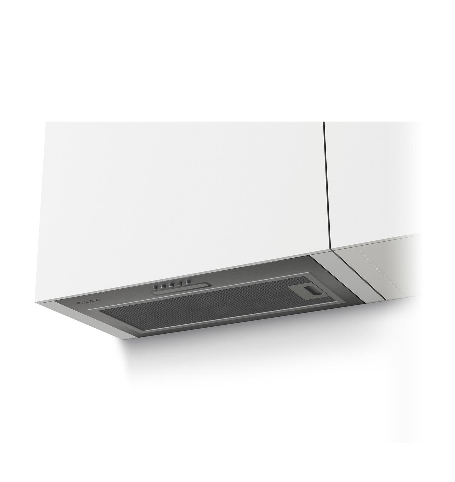 Вытяжка LEX GS Bloc Light 600 Inox, серый металлик LEX