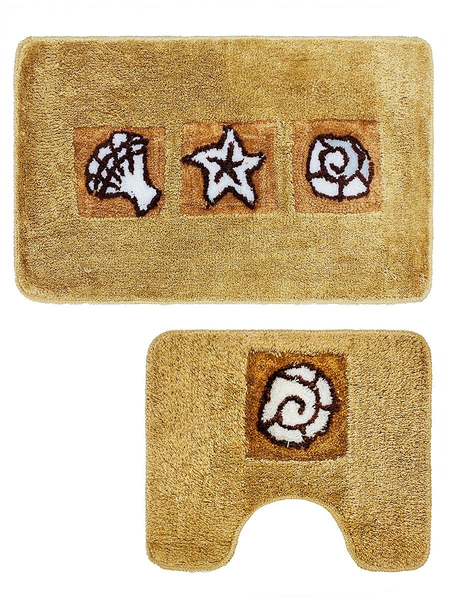 Набор ковриков для ванной mr. Penguin RGS405K/2, коричневый
