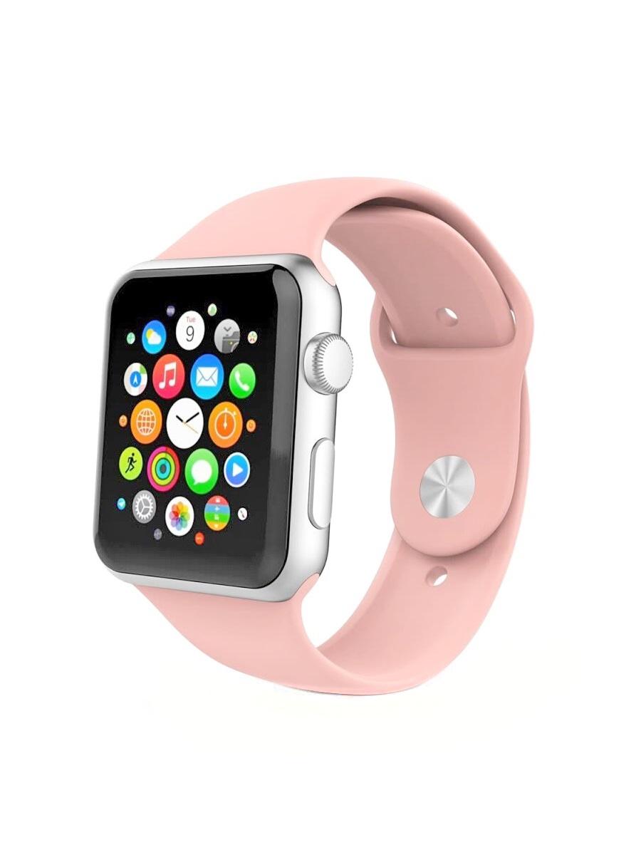 Ремешок для часов Apple Watch силиконовый розовый 38-40 мм His ремешок dbramante1928 mode madrid для apple watch 38 мм темно розовый